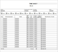 Excel Template For Timesheet 39 Timesheet Templates Free Sle Exle Format Free