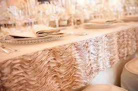 Light Pink Table Cloth Wedding Ideas 8 Ways To Add Ruffles To Décor Inside Weddings