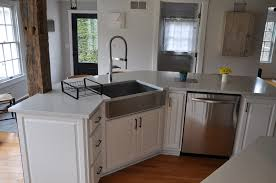 kitchen cabinet with sink white quartz countertop installed in frankfort ny quartz top