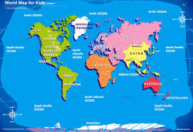 kids world map interactive wall chart in maps for kids