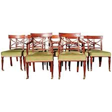 Antique Dining Chairs Set Of 12 Early 19th Century Regency Mahogany Antique Dining