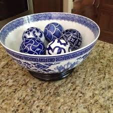 Decorative Spheres For Bowls Find More Bombay Blue And White Bowl And Decorative Balls For Sale