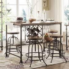 berwick industrial style counter height pub dining set with wine