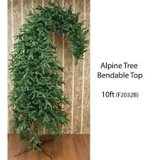 10 ft bendable top alpine tree the grinch tree