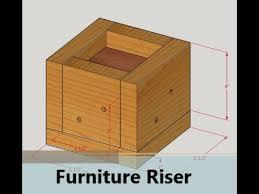 diy bed risers furniture risers youtube