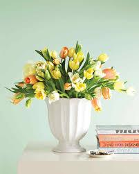 Tall Glass Vase Flower Arrangement Tulip Arrangements Martha Stewart