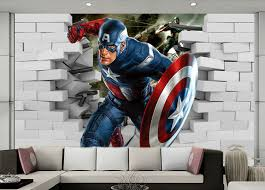 Captain America Bedroom by 3d Wall Art Captain America Wallartideas Info