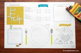 printable thanksgiving placemats everyday dishes