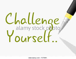 Challenge Meaning Challenge Yourself Meaning Improvement Determination Stock Photos