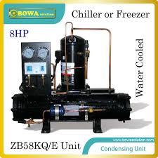 compresseur chambre froide 8hp refroidi à l eau de condensation unité avec emerson compresseur