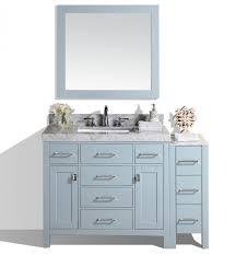 52 u0027 u0027 malibu gray single modern bathroom vanity with side cabinet