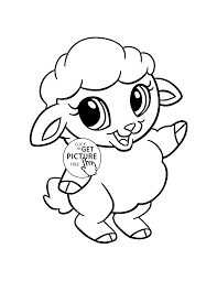baby sheep animal coloring page for kids animal coloring pages