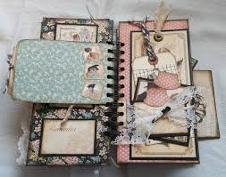 creative photo albums creative cafe a vintage diary mini album