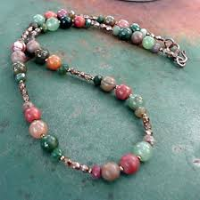 necklace stone bead images Green stone necklace with and bronze beads fancy jasper jpg