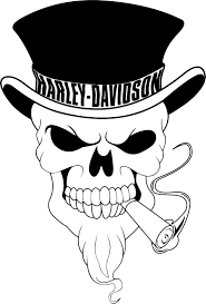 harley davidson skull vector coreldraw vector cdr file free
