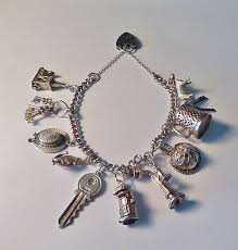 sterling silver charm bracelet charm images Antiques atlas rare vintage sterling silver charm bracelets jpg