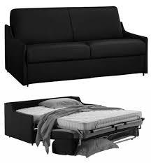 canapé lit cuir noir canapé lit gain de place en cuir de vachette nouveau