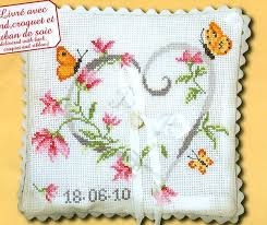 embroidery pillow kits marriage pillow counted cross stitch kit