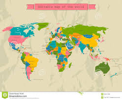 Countries Of The World Map by Editable World Map With All Countries Royalty Free Stock Image