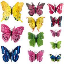 Butterfly Kitchen Decor 12pcs 3d Pvc Wall Stickers Magnet Butterflies Diy Home Decor