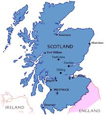 map of scotland and tourist map of accessible scotland