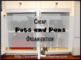 cheap kitchen organization ideas cheap pots and pans organization pan organization organizations