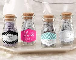 bridal favors vintage personalized milk favor jar wedding set of 12