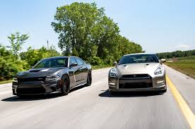 dodge charger vs challenger flavors of fast 2015 dodge charger hellcat vs 2016 nissan gt r