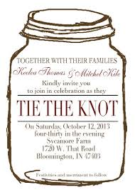 jar invitations wedding invitations jar with burlap wedding invitation at