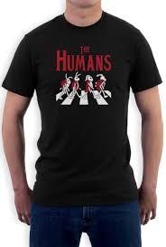 the humans beatles takeoff sarcasm novelty t shirt gift