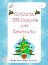 christmas gift coupons and bookmarks by happyedugator teaching