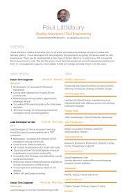 Qa Engineer Resume Example Test Engineer Resume Samples Visualcv Resume Samples Database