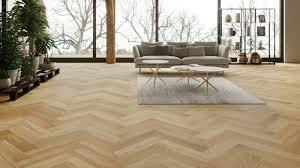 Laminate Floor Lacquer Oak Matt Lacquer Herringbone Engineered Parquet