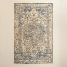 Affordable Area Rugs by 5x8 Blue Gray Print Tufted Nylon Veronica Area Rug Nylon Rugs