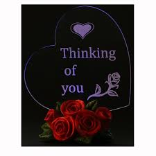 Gift For Wife Illuminated Led Message Thinking Of You Heart Shaped Board With