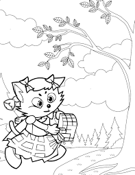 red riding hood coloring handipoints