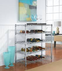36 bottle chrome wine rack in wine racks