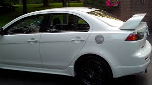 lancer mitsubishi white 2010 lancer ralliart with some mods youtube