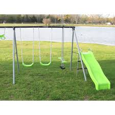 Flexible Flyer Lawn Swing Frame by Flexible Flyer World Of Fun Metal Swing Set Walmart Com