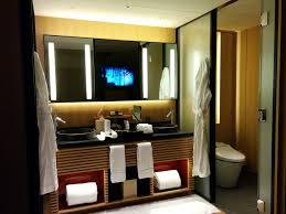 Bathroom Mirror Tv by His And Her Sinks Tv In The Bathroom Mirror Separate Toilet
