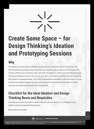 design thinking elements create some space for ideation sessions and design thinking