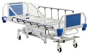 Hospital Bed Rails 4 Function Hydraulic Medical Patient Bed With Aluminum Alloy Side