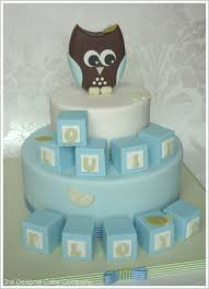 owl cakes for baby shower owl blocks baby shower cake creative ideas