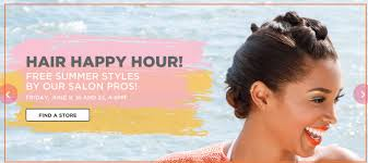 ulta hair happy hour free summer styles by salon pros