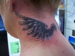 tattoo angel wings on neck grey angel wings back neck tattoos photo 3 2017 real photo