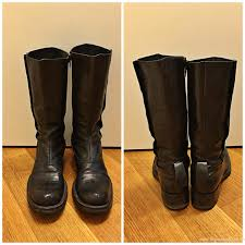 mens black leather biker boots mens boots clearance sale vtg mens black leather motorcycle boots