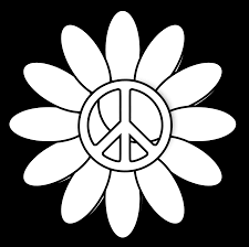 clipartist net clip art peace symbol peace sign flower 6 black