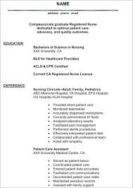 Clinical Resume Great Nurse Resume Template And Writting Sample Plus Nursing