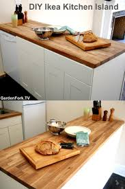 74 best gardenfork diy images on pinterest a year basements and diy ikea kitchen island made with a butcher block counter top this kitchen island used