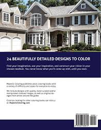 amazing homes grayscale coloring book for adults majestic